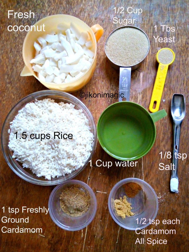 Mkate wa Sinia / Mkate wa Kumimina / Rice and Coconut Cake